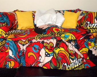 Wonder Woman Couch Tissue Box Cover