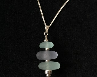 Welcome to The English Seaglass Co, this pendant is lovingly handmade using the sand polished waste glass from the English North East coast