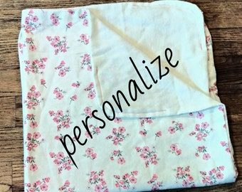 Personalized Floral Blanket