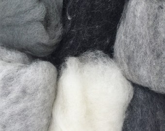 Wool Roving for Felting and Spinning Felting Needle Felting Dry Felting Wet Felting Wool Painting Assorted Colors Carded Wool 6W1