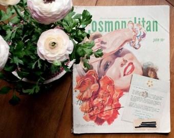 1940s Cosmopolitan Magazine/ 1940s magazine