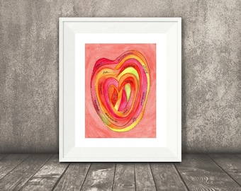 Love Visual Prayer, Art Print, Love, Meditation, Prayer, Inspirational Watercolor