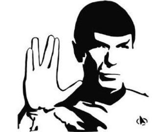 spock star trek vinyl window car vehicle sticker decal