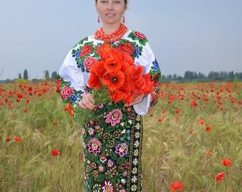 embroidered ethnic ukrainian skirt