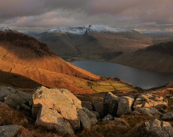Wast Water from Middle Fell  --  Landscape Photography by M J Turner