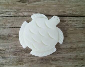 Qty. 5 Carved Bone Sea Turtle Pendants
