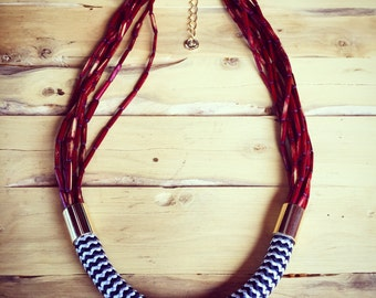 Bamboo and Rope Necklace