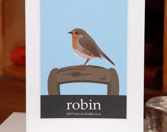 Greetings Card of a Robin (Card ID: WOSB005)