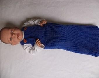 Baby sleeping bag cocoon Merino Wool knit 60 cm