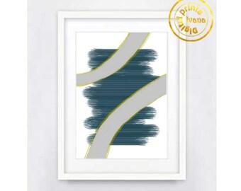 Printable wall art Digital Prints modern blue gray wall art Home decor printable art, printable prints