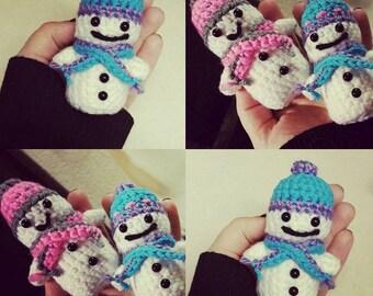 Mini Amigurumi Snowmen