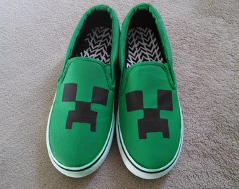 Minecraft Creeper Shoes