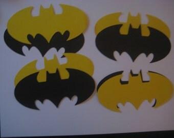 Batman die cuts, Batman symbols, batman paper