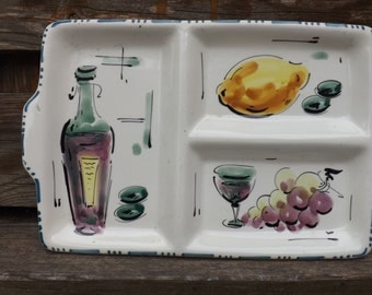 1960s? Retro/Vintage Olive Tray. Made in Italy