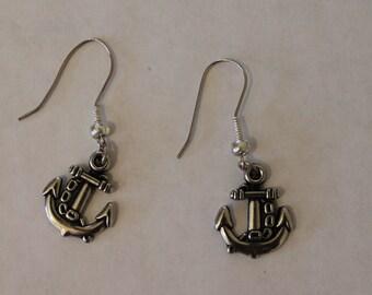 Anchor Earrings - short