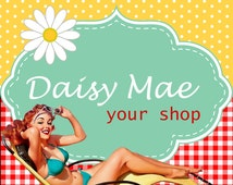 Etsy Cover - Premade Etsy Banner - Shop Set - Daisy Mae Country Girl