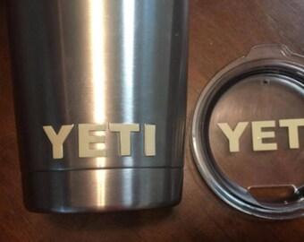 30 oz Yeti Decal / Yeti Lid Decal / Yeti Cup Decal / Yeti Rambler Decal / Yeti Logo / Yeti Logo Decal / Yeti Cup and Lid Decal / Yeti Emblem