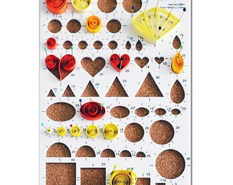 Quilling Template Workboard - Cork Backed 54 Shapes