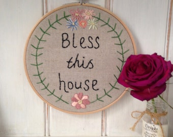 Bless this house hoop