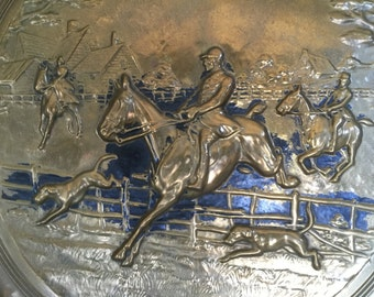 Antique Brass Art Metal Raised Relief Wall Hanging