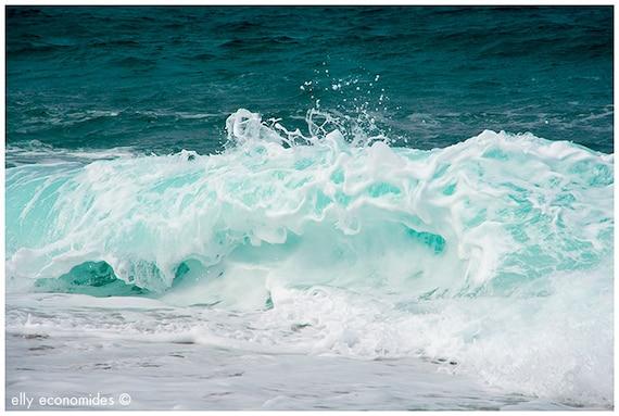 sea, ocean, aqua, wave, blue, water, beach, turquoise, wild, wall art, Ocean Waves, 043