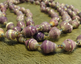 Ugandan Beaded Necklace Light Purple - Adoption Support