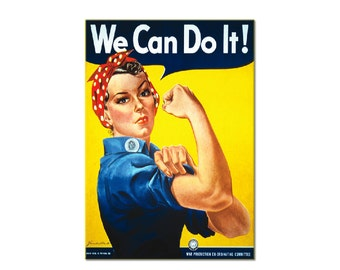 We Can Do it Rosie the Riveter Refrigerator Magnet