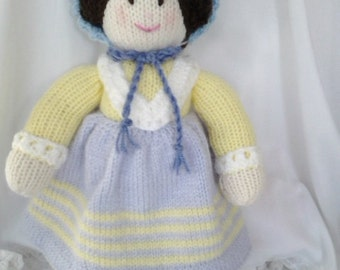 Hand Knitted Doll (Mary)