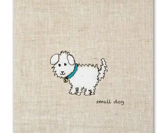 Small Dog greetings card