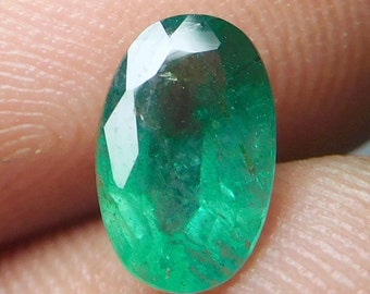 Loose Cut Emerald,Emerald Gemstone,Faceted Emerald Stone,Loose Gemstone Oval Fac Emerald,Wholesale Emerald Stone,Cts 0.95,,5x8x4mm PCD906