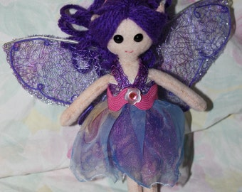 Felt Pocket Fairy Doll - Violet