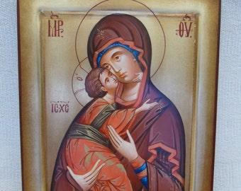 Handpainted Byzantine icon