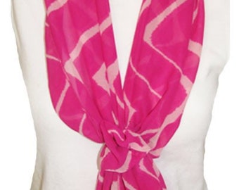 Pink Scarf with Velcro Closure