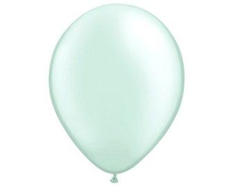 MINI PASTEL GREEN Balloons - Set of 5 Mini Pastel Mint Green Balloons (5 inches / 12cm)