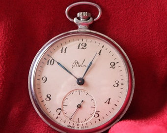 Great Example - 1950-60's Russian 18 Jewel Pocket Watch - Serviced & Running