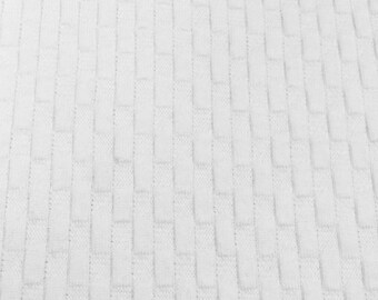 100% Cotton Waffle Weave Fabric By the Yard (Wholesale Price Available By the Bolt) USA Made Premium Quality - 7273 White - 1 Yard