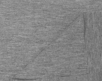 Dri-Release 1x1 Rib Knit Fabric (Wholesale Price Available By the Bolt) USA Made Premium Quality - 9005h Heather Grey - 1 Yard