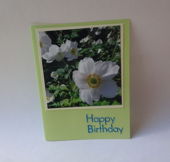 Birthday Card with Japanese Anemone Flower - #715