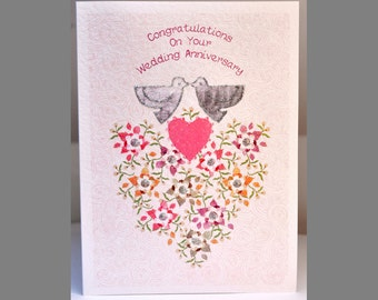 Special Wishes Large Anniversary Doves Card SW WE03