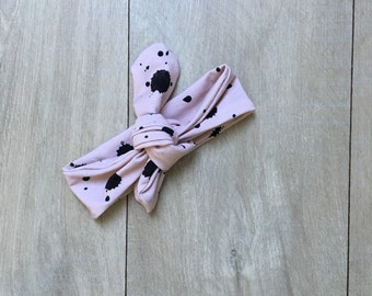 Headband pink spots