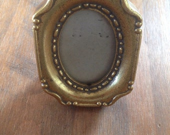 Vintage miniature gold photo frame
