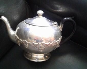 Beautiful silver teapot