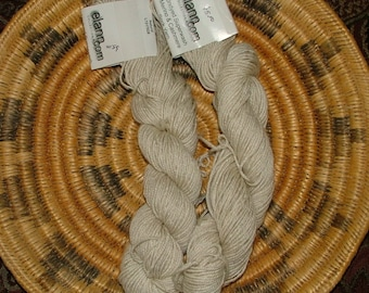 Lot of 2 skeins of Natural Elann Collection Undyed Superwash Merino & Cashmere Sock Yarn Made in Canada Crochet Knit