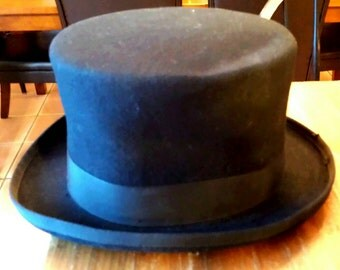 Men's black Smithbilt felt tophat