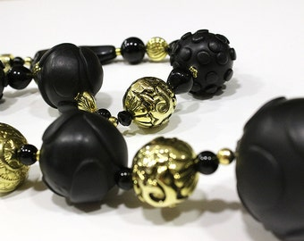 "Necklace ""Black & Gold"""
