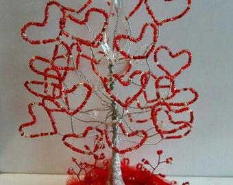 Tree of Love. Free Shipping. Shining tree of hearts. 💞