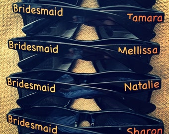 REDUCED TO CLEAR  Personalised Sunglasses Wedding / hens night