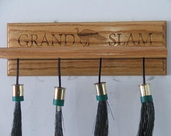"Wild Turkey ""Grand Slam"" Beard & Spur Mount/Display - Select Red Oak"