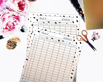 Printable daily planner, Printable weekly planner, Printable weekly schedule, Week planner, Weekly hourly planner, Printable planner pages