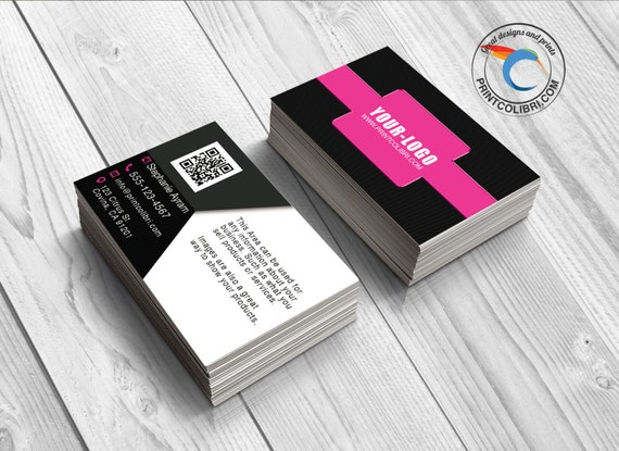 Pink1 100 5000 Full Color Business Cards Gloss or